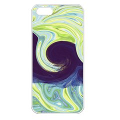 Abstract Ocean Waves Apple iPhone 5 Seamless Case (White)