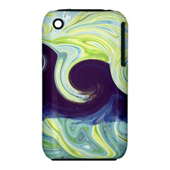 Abstract Ocean Waves Apple Iphone 3g/3gs Hardshell Case (pc+silicone)