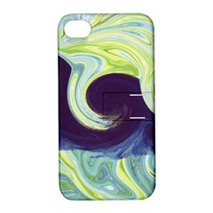 Abstract Ocean Waves Apple iPhone 4/4S Hardshell Case with Stand