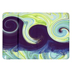 Abstract Ocean Waves Samsung Galaxy Tab 8.9  P7300 Flip Case