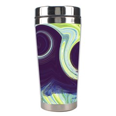 Abstract Ocean Waves Stainless Steel Travel Tumblers