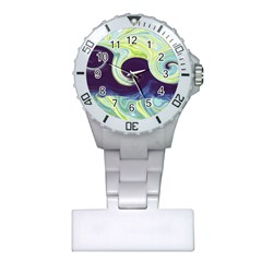 Abstract Ocean Waves Nurses Watches