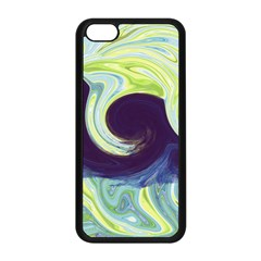 Abstract Ocean Waves Apple iPhone 5C Seamless Case (Black)