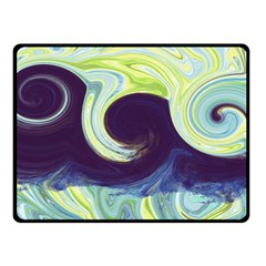 Abstract Ocean Waves Double Sided Fleece Blanket (small)