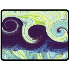 Abstract Ocean Waves Double Sided Fleece Blanket (Large)