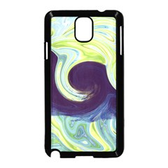 Abstract Ocean Waves Samsung Galaxy Note 3 Neo Hardshell Case (Black)