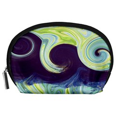 Abstract Ocean Waves Accessory Pouches (Large)