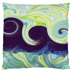 Abstract Ocean Waves Standard Flano Cushion Cases (one Side)