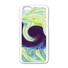 Abstract Ocean Waves Apple Iphone 6/6s White Enamel Case