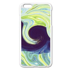 Abstract Ocean Waves Apple iPhone 6 Plus/6S Plus Enamel White Case