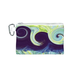 Abstract Ocean Waves Canvas Cosmetic Bag (S)
