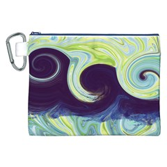 Abstract Ocean Waves Canvas Cosmetic Bag (xxl)