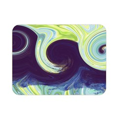 Abstract Ocean Waves Double Sided Flano Blanket (mini)