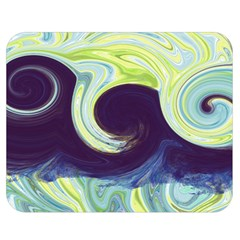 Abstract Ocean Waves Double Sided Flano Blanket (Medium)