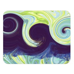 Abstract Ocean Waves Double Sided Flano Blanket (Large)