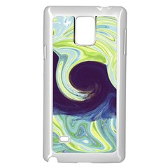Abstract Ocean Waves Samsung Galaxy Note 4 Case (White)