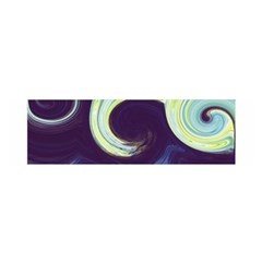 Abstract Ocean Waves Satin Scarf (Oblong)