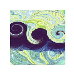 Abstract Ocean Waves Small Satin Scarf (square)