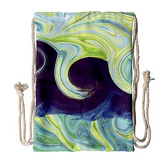 Abstract Ocean Waves Drawstring Bag (Large)