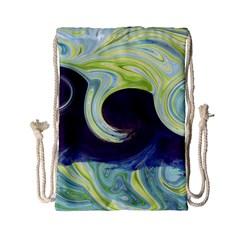 Abstract Ocean Waves Drawstring Bag (Small)