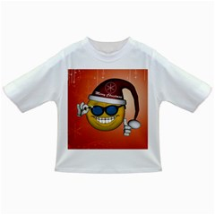 Funny Christmas Smiley With Sunglasses Infant/Toddler T-Shirts