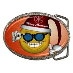 Funny Christmas Smiley With Sunglasses Belt Buckles