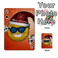Funny Christmas Smiley With Sunglasses Playing Cards 54 Designs