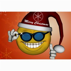 Funny Christmas Smiley With Sunglasses Collage 12  X 18