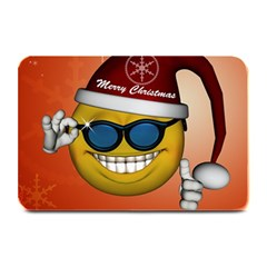 Funny Christmas Smiley With Sunglasses Plate Mats