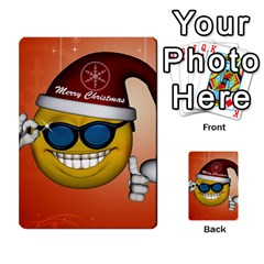 Funny Christmas Smiley With Sunglasses Multi-purpose Cards (Rectangle)