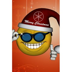 Funny Christmas Smiley With Sunglasses 5 5  X 8 5  Notebooks