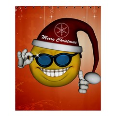Funny Christmas Smiley With Sunglasses Shower Curtain 60  x 72  (Medium)