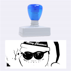 Funny Christmas Smiley With Sunglasses Rubber Stamps (Large)