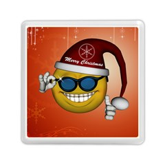 Funny Christmas Smiley With Sunglasses Memory Card Reader (Square)