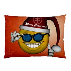 Funny Christmas Smiley With Sunglasses Pillow Cases (Two Sides)