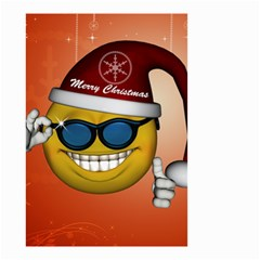 Funny Christmas Smiley With Sunglasses Small Garden Flag (two Sides)