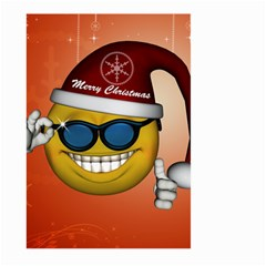 Funny Christmas Smiley With Sunglasses Large Garden Flag (Two Sides)