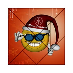 Funny Christmas Smiley With Sunglasses Acrylic Tangram Puzzle (6  X 6 )