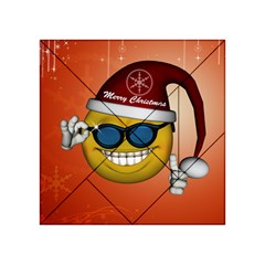 Funny Christmas Smiley With Sunglasses Acrylic Tangram Puzzle (4  x 4 )