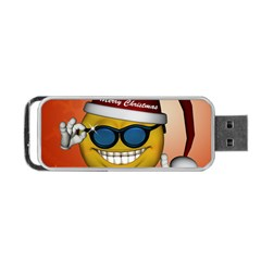 Funny Christmas Smiley With Sunglasses Portable USB Flash (One Side)