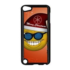 Funny Christmas Smiley With Sunglasses Apple iPod Touch 5 Case (Black)