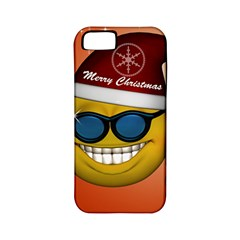 Funny Christmas Smiley With Sunglasses Apple iPhone 5 Classic Hardshell Case (PC+Silicone)