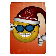 Funny Christmas Smiley With Sunglasses Flap Covers (S)