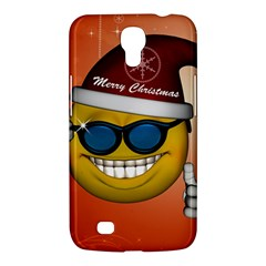 Funny Christmas Smiley With Sunglasses Samsung Galaxy Mega 6.3  I9200 Hardshell Case