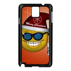 Funny Christmas Smiley With Sunglasses Samsung Galaxy Note 3 N9005 Case (Black)