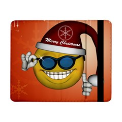 Funny Christmas Smiley With Sunglasses Samsung Galaxy Tab Pro 8 4  Flip Case