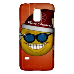 Funny Christmas Smiley With Sunglasses Galaxy S5 Mini