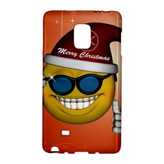Funny Christmas Smiley With Sunglasses Galaxy Note Edge