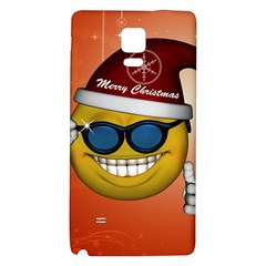 Funny Christmas Smiley With Sunglasses Galaxy Note 4 Back Case