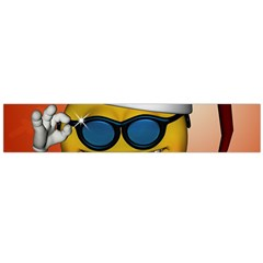 Funny Christmas Smiley With Sunglasses Flano Scarf (Large)